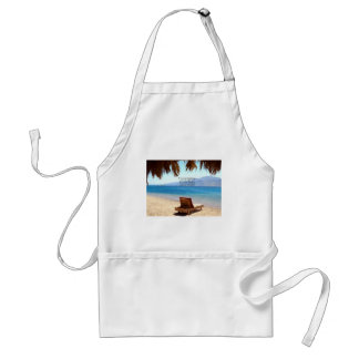 Inspirational DREAM quote with scenic beach photo Standard Apron