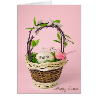 inspirational Easter egg in basket Card