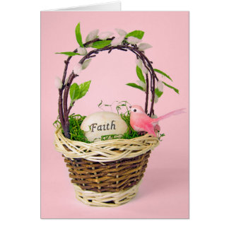inspirational Easter egg in basket Card