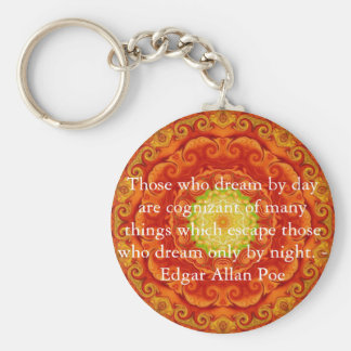 Inspirational Edgar Allan Poe Quote about dreams Basic Round Button Keychain
