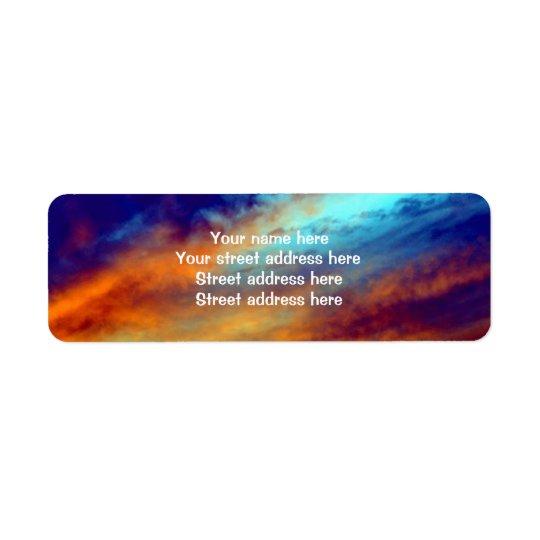 Inspirational Evening Sky Address Label