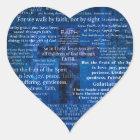 Inspirational Faith Bible Verses Heart Sticker
