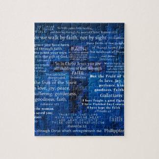 Inspirational Faith Bible Verses Jigsaw Puzzle