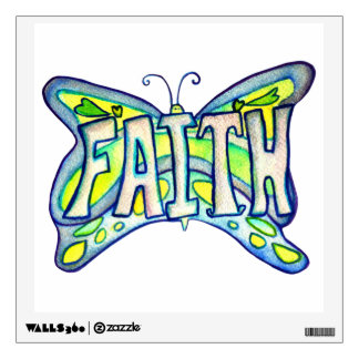 Inspirational Faith Word Butterfly Wall decal