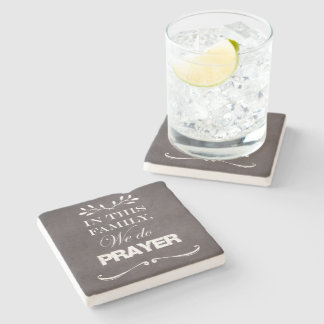 Inspirational Family and Prayer Quote Stone Coaster