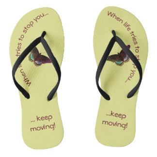 Inspirational Flip Flops - Keep Moving