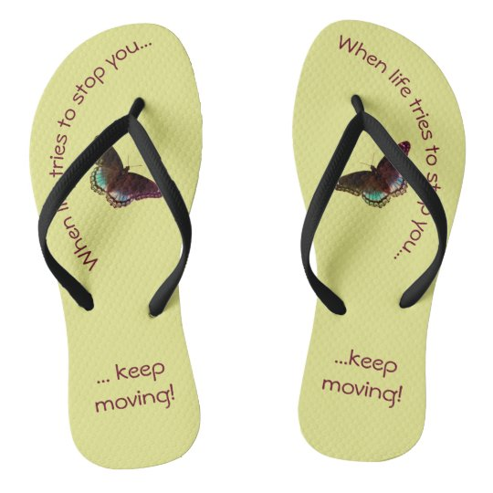 Inspirational Flip Flops - Keep Moving