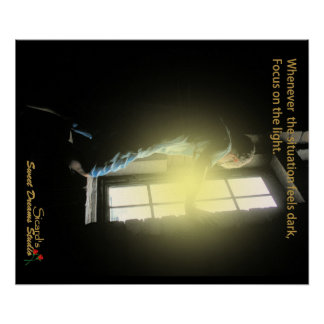 Inspirational --focus on the light poster