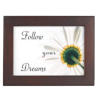 Inspirational | Follow Your Dreams | Flower Keepsake Box