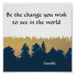 Inspirational Gandhi Quote Poster Art Print