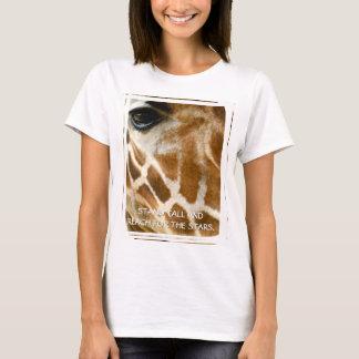 Inspirational Giraffe Quote Wildlife Nature Photo T-Shirt