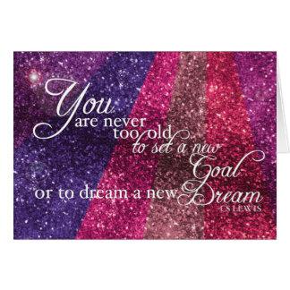 Inspirational Glittery Greeting Card