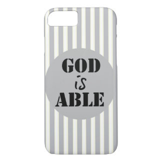 Inspirational God is Able iPhone 7 Case