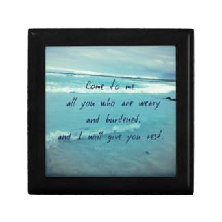 Inspirational God quote Bible verse Come To Me Gift Box