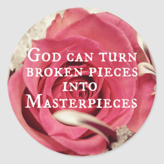 Inspirational God Quote Masterpiece Classic Round Sticker