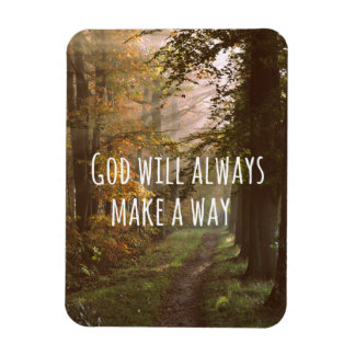 Inspirational God will make a Way Quote Magnet