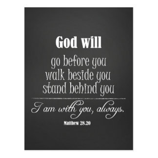 Inspirational God Will Quote with Bible Verse Postcard
