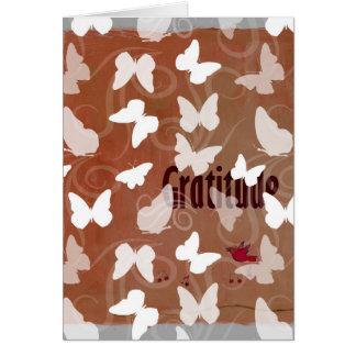 Inspirational Gratitude Butterflies Card