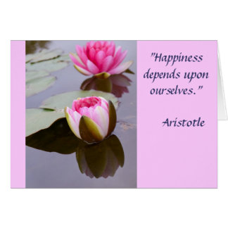 Inspirational Greeting Card with Aristotle Quote
