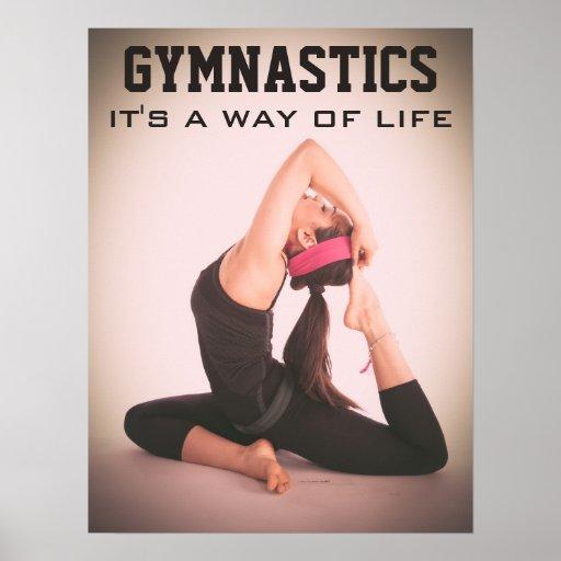 Inspirational Gymnastics Quote Poster