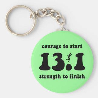 Inspirational half marathon basic round button keychain