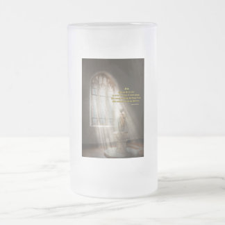 Inspirational - Heavenly Father - Senrenity Prayer Frosted Glass Beer Mug