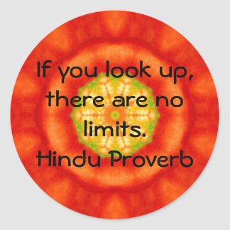 inspirational Hindu Proverb from India Round Sticker