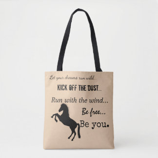 Inspirational Horse Themed Tote Bag