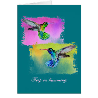 Inspirational Hummingbird Card