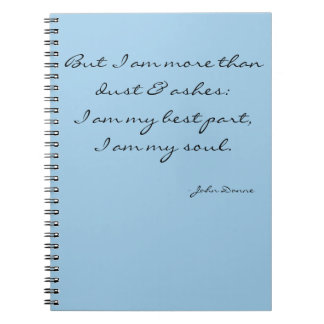 Inspirational journal notebook - I am my soul