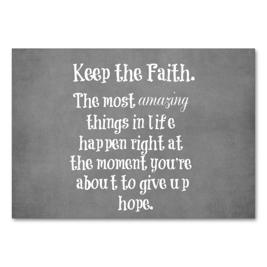 Inspirational Keep the Faith Quote Card