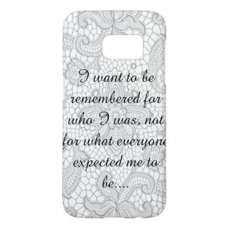 inspirational lace samsung galaxy s7 case