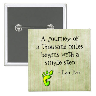 Inspirational Lao Tzu Quote 2 Inch Square Button