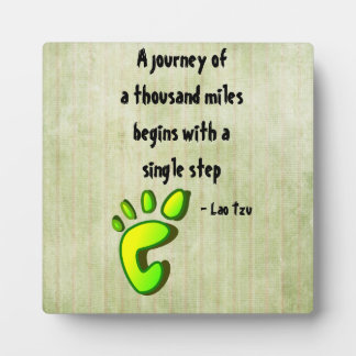 Inspirational Lao Tzu Quote Plaque