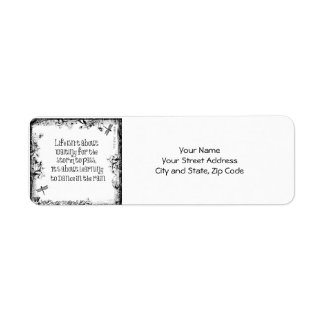 Inspirational Learning to dance in the Rain Quote Labels