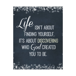 Inspirational Life and God Quote Canvas Print