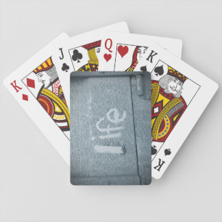 Inspirational life boho rustic blue playing cards
