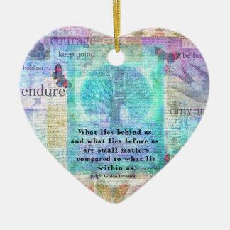 Inspirational Life Quote Ceramic Ornament