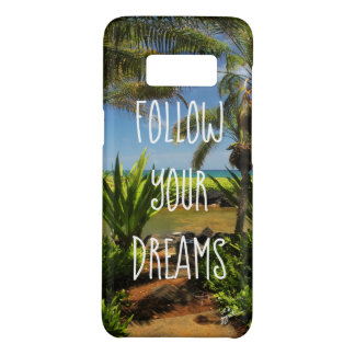 Inspirational Life Quote Follow Your Dreams Beach Case-Mate Samsung Galaxy S8 Case
