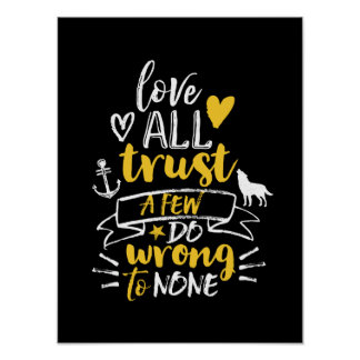 Inspirational Life Quote Love Trust Do Right Poster