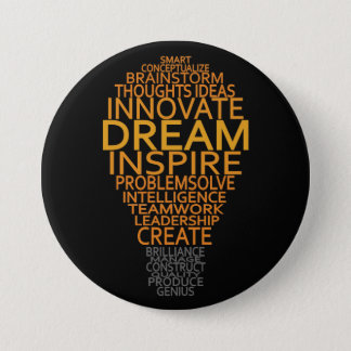 Inspirational Light Bulb custom button
