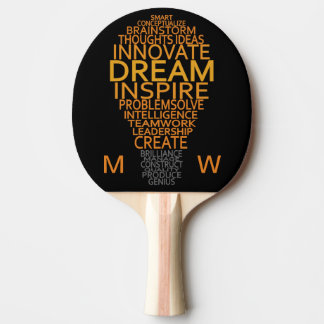 Inspirational Light Bulb custom ping pong paddle