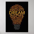 Inspirational Light Bulb custom poster