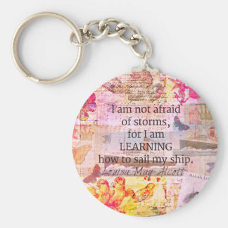 Inspirational Louisa May Alcott STORM quote Basic Round Button Keychain