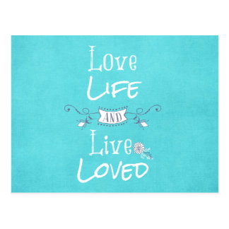 Inspirational Love and Life Quote Postcard