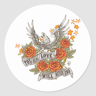 Inspirational Love Eagle Sticker