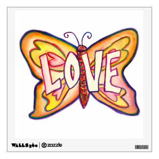 Inspirational Love Word Butterfly Wall decal