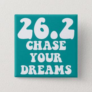 Inspirational marathon 2 inch square button