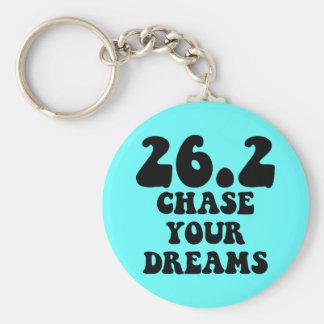 Inspirational marathon basic round button keychain