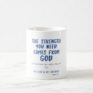 Inspirational Message Quote and Bible Verse Magic Mug